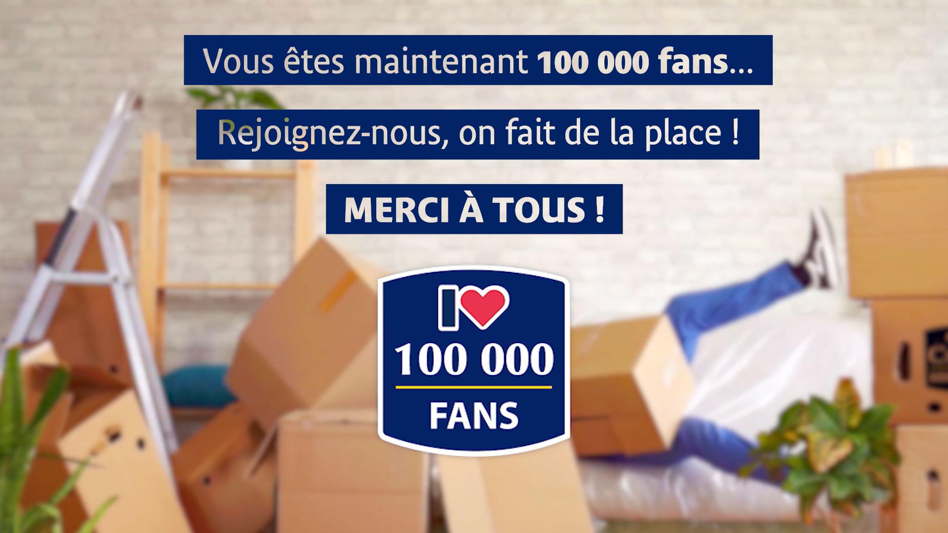 Citya remercie ses 100 000 fans sur Facebook