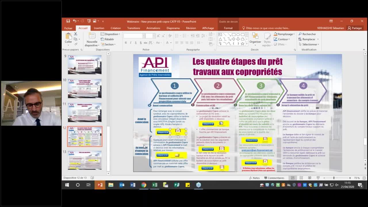 API Financement - Comment mettre en place un prêt copropriété - Sébastien VERHAEGHE